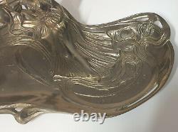 Vide poche plateau Femme Art Nouveau autrichienne allongée Jugendstil WMF