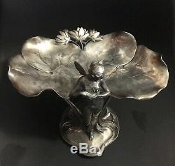 Wmf Modèle 246 Femme Papillon Plateau À Cartes De Visite Art Nouveau Jugendstil
