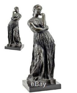 XL FIGURE EN BRONZE ART NOUVEAU PENELOPE FEMME DE Ulysse 48 cm signé BOURDELLE
