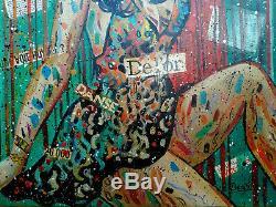 Yuri DENISSOV (Jeune femme au chapeau) art moderne, Huile sur toile